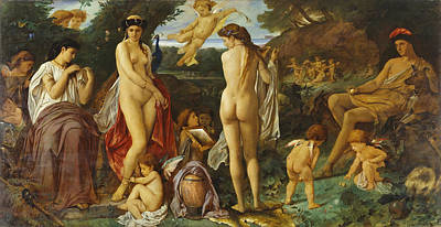 Painting - The Judgement Of Paris by Anselm Feuerbach