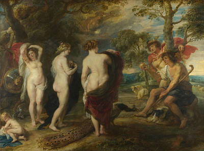 Nude Children Painting - The Judgement Of Paris by Peter Paul Rubens
