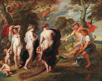 Painting - The Judgement Of Paris by Workshop of Peter Paul Rubens