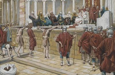On Paper Painting - The Judgement On The Gabbatha by Tissot