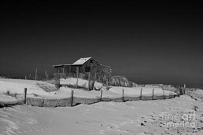 The Judges Shack At Island Beach State Park Art Print by Paul Ward