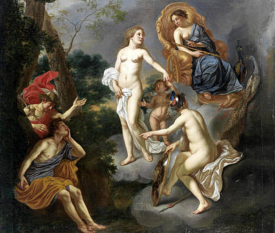 Painting - The Judgment Of Paris by Carel van Savoyen