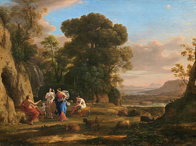 Hera Painting - The Judgment Of Paris by Claude Lorrain