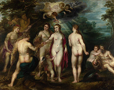 Hera Painting - The Judgment Of Paris by Peter Paul Rubens