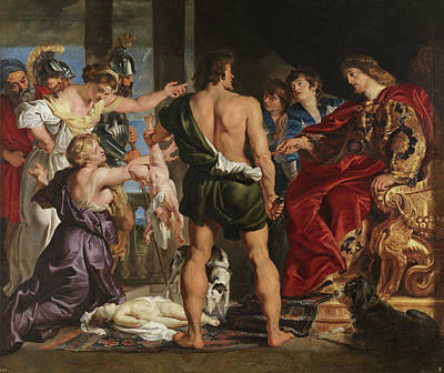 David Painting - The Judgment Of Solomon by Peter Paul Rubens