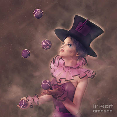 Digital Art - The Juggler by Methune Hively