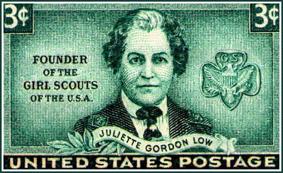 The Juliette Low Stamp Art Print by Lanjee Chee