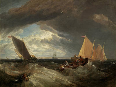 Painting - The Junction Of The Thames And The Medway by William Turner
