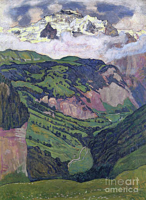 Painting - The Jungfrau Seen From Isenfluh, 1902 by Ferdinand Hodler