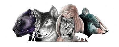 Orangutan Mixed Media - The Jungle Book by Benjamin Butcher