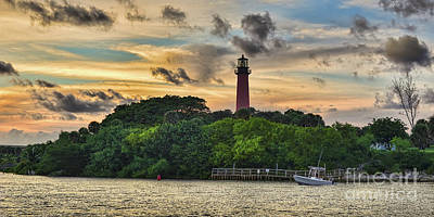Photograph - The Jupiter Inlet Lighthouse by Olga Hamilton