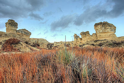 Photograph - The Kansas Badlands by JC Findley
