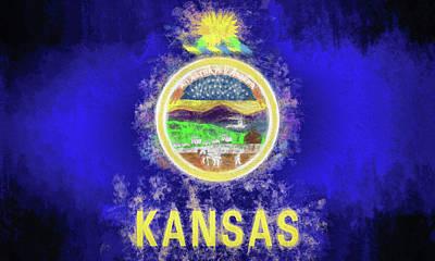 Digital Art - The Kansas Flag by JC Findley