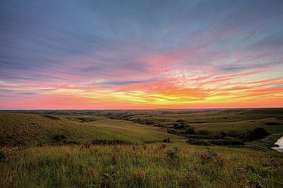 Photograph - The Kansas Flint Hills by JC Findley