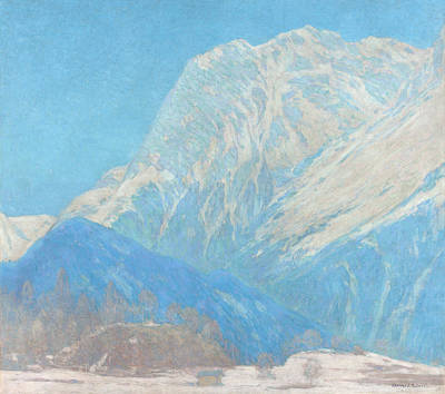 Solid Painting - The Karwendel Spitz Solid by Celestial Images