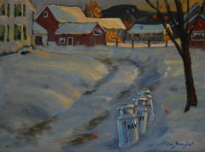 Milk Can Painting - The Kay Farm by Len Stomski
