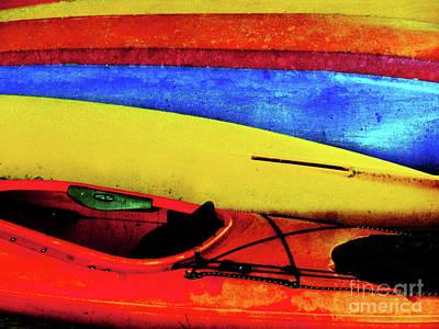 Photograph - The Kayaks by Tara Turner
