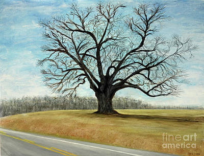 Painting - The Keeler Oak by Lyric Lucas