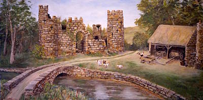 The Keep At Smithy Bridge Art Print by Alan Lakin