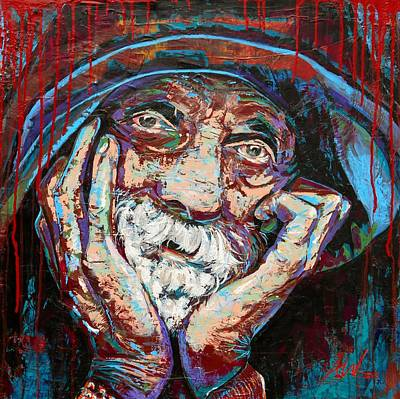 Hobo Art Painting - The Keeper by Angie Wright
