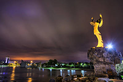 Wichita Photograph - The Keeper Of Wichita by Thomas Zimmerman