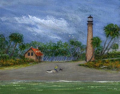 Orlando Painting - The Keeper's Friend by Gordon Beck