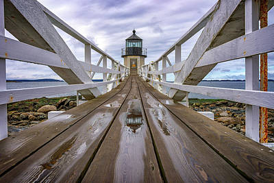 Photograph - The Keeper's Walkway At Marshall Point In Color by Rick Berk