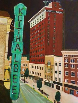 Painting - The Keith Albee Theater by Christy Saunders Church