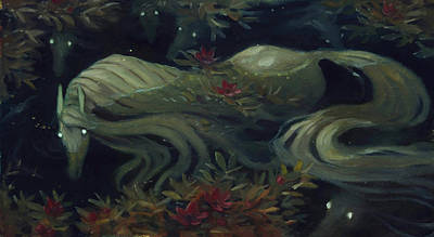 The Kelpie Pond Art Print by Jaimie Whitbread