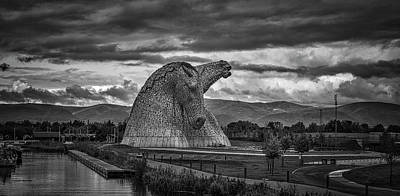 The Kelpies. Print by Angela Aird