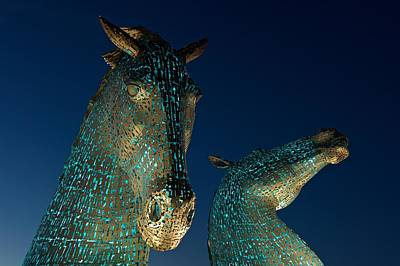 Photograph - The Kelpies At Falkirk by Stephen Taylor