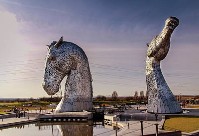 Photograph - The Kelpies by RKAB Works