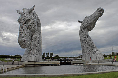 Photograph - The Kelpies by Tony Murtagh