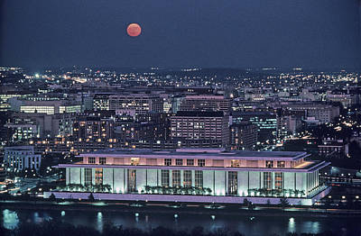 The Kennedy Center Lit Up At Night Art Print by Kenneth Garrett