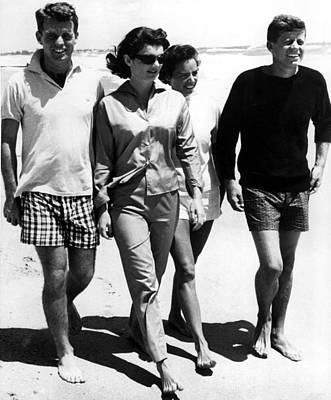 The Kennedys, Robert, Jackie, Ethel Art Print