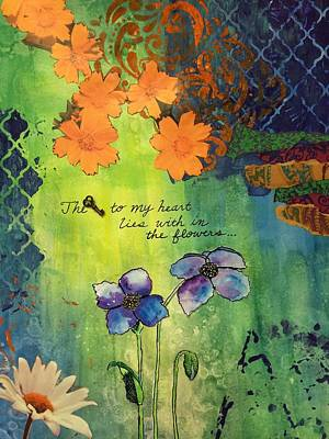 Moroccan Mixed Media - The Key  by Dawn Neumeister