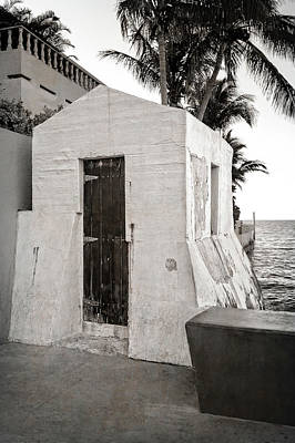 Photograph - The Key West Cable Hut   -   Cablehutbw121337 by Frank J Benz