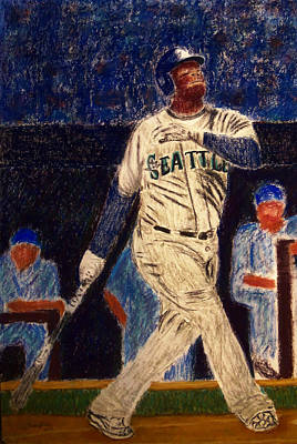 The Kid Feat Ken Griffey Jr Art Print by D Rogale