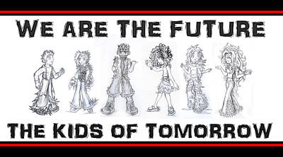 Drawing - The Kids Of Tomorrow 1 by Shawn Dall
