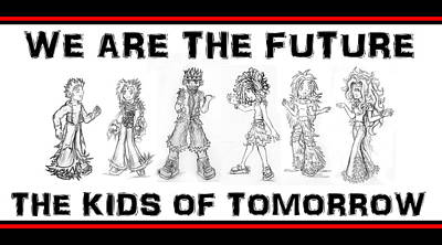 Drawing - The Kids Of Tomorrow 2 by Shawn Dall