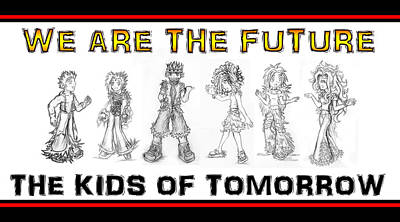 Drawing - The Kids Of Tomorrow 3 by Shawn Dall