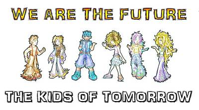 Digital Art - The Kids Of Tomorrow by Shawn Dall