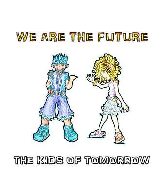 Drawing - The Kids Of Tomorrow Toby And Daphne by Shawn Dall