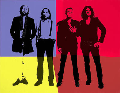 Dave Mixed Media - The Killers Pop Art Panels by Dan Sproul