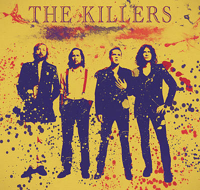 Mixed Media - The Killers Poster by Dan Sproul