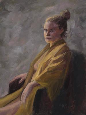 Painting - The Kimono by Mary Giacomini