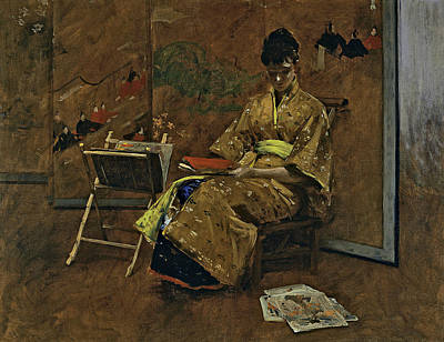 Painting - The Kimono by William Merritt Chase