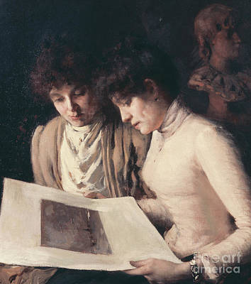 Nineteenth Century Painting - The Kind Critic by Andrea Tavernier