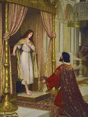 The Kings Painting - The King And The Beggar-maid by Edmund Leighton