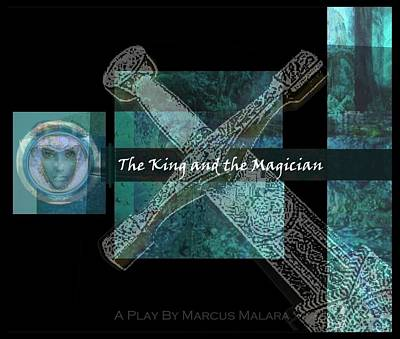 Camelot Mixed Media - The King And The Magician Cover Art by Marcus Malara